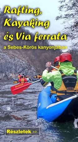 Rafting, kayaking és via ferrata az Erdélyi-szigethegységben